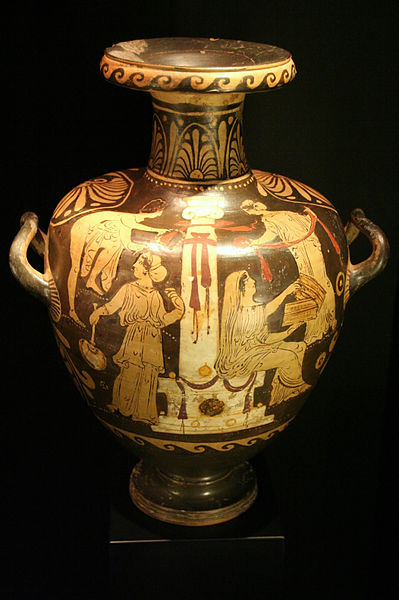 Vase depicting the myth of Pandora.